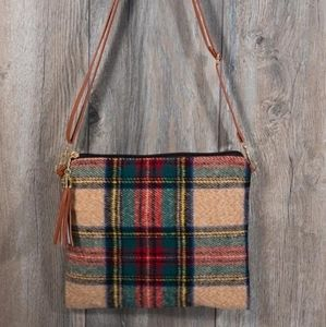 Plaid Crossbody/Clutch